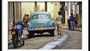 Beispielhaft gerahmt: Straßen-Szene in Havanna / Kuba, 2000. (Foto: Thomas Grziwa / docu-Moments.de)